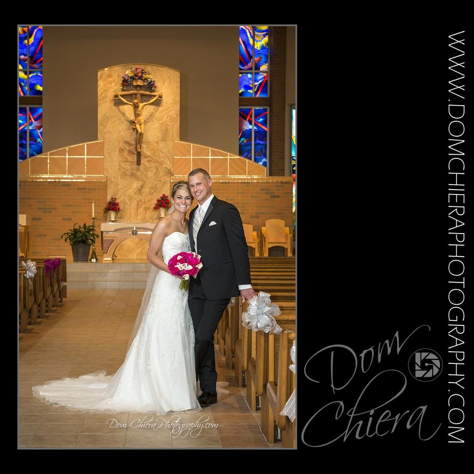 St. John Vianney Church Mentor, OH Wedding