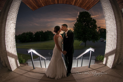 Artistic Sunset Wedding Akron, OH