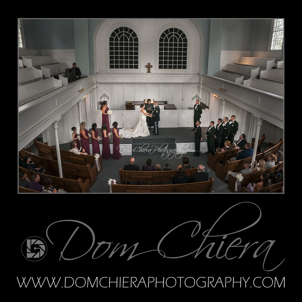 Wedding at Tallmadge Historical Church